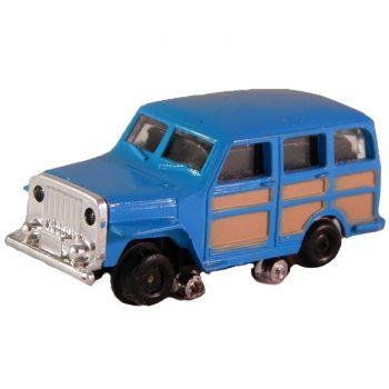 Vintage Bachmann HO Scale Trackster Jeepster Blue